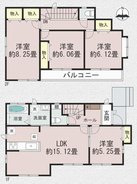 間取図(4LDK+カースペース)