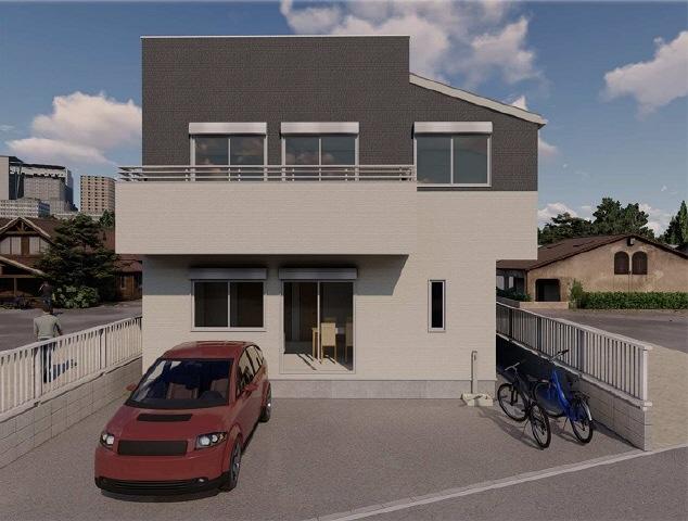 建物イメージ周りの風景、車、自転車は含まれません。