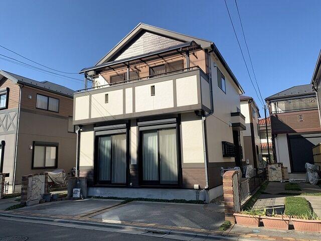 ポラス施工・旧分譲住宅平成16年11月築南向きの整形地、通風・陽当り良好