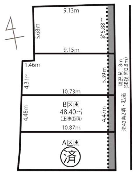 区画図:B号棟
