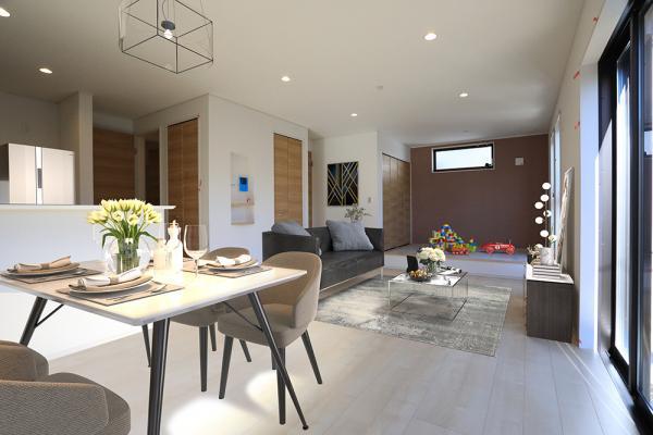 リビング(配置してある家具はCGによるイメージです)