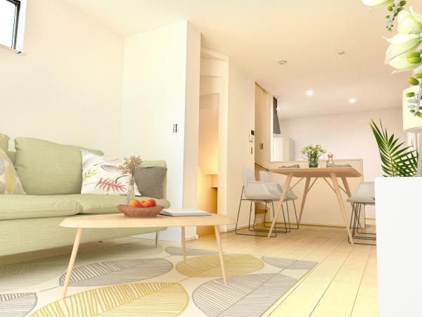 リビング(配置してある家具はCGによるイメージです)安らぎの日々のために最新の設備・仕様を採用しました。